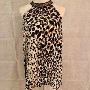 Lane Bryant Leopard print halter style top